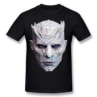 Wholesale T Shirts Halloween Men - Man Short Sleeve Tee Shirts Nights King Halloween Mask Shirt Mens Homme Interesting T Shirts White Normal Crewneck Team T-Shirt