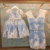 top kılıfı toptan satış-Aile Eşleştirme Kıyafetler 2017 Yeni Balo Çocuk Elbise Kılıf Anne Kızı Elbiseler Giymek Balo Parti Ebeveynlik Elbise