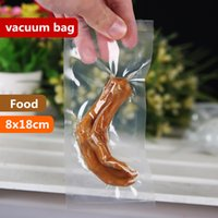 Wholesale Vacuum Bags For Food - 8x18cm 0.16mm vacuum bag sous vide vacuo vakuum vaccum organizer termica seladora sealer transparent bolsas lunch storage for food eco wrap