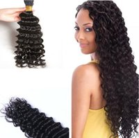 Wholesale hair weave fast delivery resale online - 3bundles A Malaysian Hair Weave inch Natural Color Unprocessed Deep Wave Human Hair BULK Extension Fast Delivery