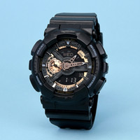 Wholesale Kinder Watch - GA110 outdoor waterproof sports watches, original men's LED digital watch three small pointer can operate 9 kinds of styles