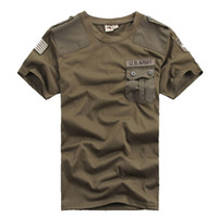 camiseta del ejército libre al por mayor-Venta al por mayor envío gratis Mens T Shirts Hombres Casual Confederate US Army 101 División Aerotransportada 100% algodón T-Shirt Military Táctico Comfort T