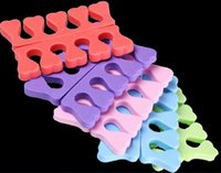 Wholesale Toe Separation - 10Pcs(5Pairs) Eva Foam Toe Separators Cute Smile Face Soft Sponge Manicure Tool Nail Art Equipments Nail Care Separation