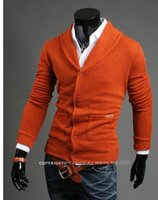Wholesale Plus Size Orange Cardigan - Wholesale-2017New Autumn Winter Mens Thick Formal Cardigans Casual Sweaters Warm Jumper Camisola Masculinas Clothing Plus Size 2XL 170B