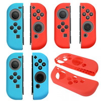 Wholesale Fedex Shipping Slip - NS Soft silicon case Anti-slip Silicone Cover Skins for Nintendo Switch Grip Controller DHL FEDEX FREE SHIPPING