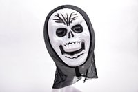 Оптовое платье Halloween Mask Masquerade Cosplay Party Dress Skull Ghost Scary Scream Red Mask All Face Hood