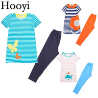 Wholesale kids blouse embroidery - Embroidery Children Clothing Sets Baby Girls Dress Legging Suit Kids Blouse Pant Girl's Dresses Suits Short Sleeve Top Quality