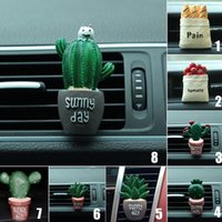 2017 Car Clip-On Air Vent Outlet Air Freshener Cactus Perfume Fragrance Diffuser