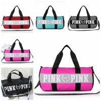 Wholesale large organizer tote - Canvas secret Storage Bag organizer Large Pink Men Women Travel Bag Waterproof Victoria Casual Beach Exercise Lage Bags