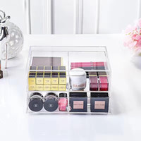 Wholesale New Arriva High Quality Layer Drawer Clear Acrylic Bathroom Makeup Storage Drawers Cosmetic Organizer