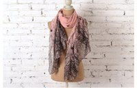 Wholesale Branches Scarves - Wholesale-2016 New Fashion Winter Grey Pink Ink Bird On Trees Viscose Branches Scarf For Woman Ladies Shawls Hijab Foulard Sjaal Free Ship