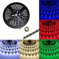 tira de led flexible negro al por mayor-Negro PCB LED Strip 5050 RGB IP65 Impermeable DC12V 300led 5m Cinta Led Flexible Ip65 Impermeable Inicio Cadena