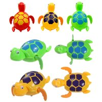 Vente en gros - Nouvelle natation Wind Up Turtle Pool Animal Jouets flottants pour bébé Enfants Bath Time Bath Toys Pool party Entertainmen Supplies