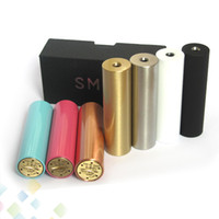 Wholesale E Cigarette Copper - E Cigarette SMPL Mod Full Machanical Mods Red Copper SS Black Brass SMPL Mod for 18650 Battey Clone SMPL 510 Thread Fit Atomzier