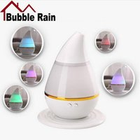Wholesale Led Water Atomizer - Mini 7Colors USB Air Humidifier Water Drop Fogger Atomizer Ultrasonic Humidifier LED Light Aroma Diffuser Mist Maker for car Home