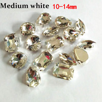 Wholesale White Artificial Crystal Rhinestone Medium Package