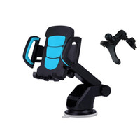 Wholesale Used Pda Phones - Vehicle Mounted Mobile Phone Holder Stand Sucker Car Mount Use Buckle Type Air Outlet Support For iPhone Htc GPS PDA Navigation Car Styling