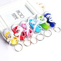 Discount crystal car sales - FREE SHIPPING BY DHL 100pcs lot Hot sale 3d mini shoe sneaker keychain wholesale