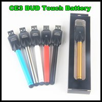 Wholesale New Wax Pens - New O-Pen Vape Bud Touch Battery with USB Charger 510 Thread for CE3 Vaporizer Pen for Wax Oil Cartridges E-cigarette Free ship