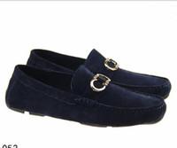 ingrosso mocassin uomini scarpe mocassini-Genuine Leather Suede Men Casual Dress Shoes Designer di marca di lusso Oxford Mocassino doug Scarpe Zapatos Hombre Suit Scarpe Mocassini 40-46