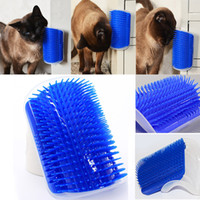 Wholesale cat hair trimmer comb resale online - Pet Cat Self Groomer Grooming Tool Hair Removal Brush Comb for Dogs Cats Hair Shedding Trimming Cat Massage Device with catnip WX9