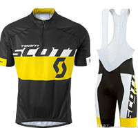 Wholesale Yellow Scott Bicycles - Vacove Brand New 2017 Pro Team SCOTT cycling jersey Red bike shorts set Ropa Ciclismo quick dry pro cycling wear bicycle Maillot Culotte