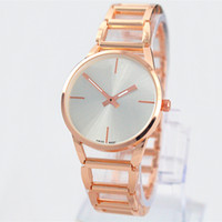 Wholesale Gold Steel Jewelry - 2017 A piece lots Top brand Metal Luxurywomen aaa watch special steel Lady Wristwatch free box student clock fashion design Free shipping