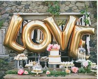 "Wholesale Large Letter Foil Balloons - 40"" A - Z Full Alphabet air balloon Party Wedding Decoration Mylar Foil Balloon large Letter wa3721"