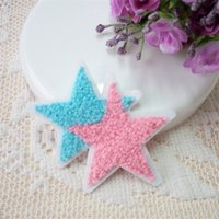 Wholesale Embroidery Hand Towel - 20Pcs Lot Towel embroidery cloth patch Star appliques Fashion T-shirt jeans rucksack hand sewing decoration patches Clothing accessories