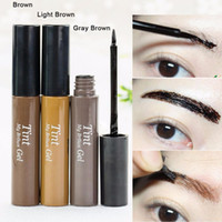 Wholesale Eyebrow Dye Color - Wholesale- 2016 New arrival!Peel off Eyebrow Enhancer Tint Gel Tattoo Makeup Eyebrow Cream Dye Color Natural 3 Days Long Lasting
