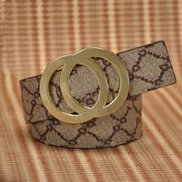 Wholesale Wide Women S Belts - High Quality Fashion Cowskin Men's Belt Mens Women Belts Designer With Smooth Buckle Genuine Leather man belt for gift