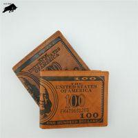 Wholesale Retro Card Package - PU men's dollars pattern wallet retro fashion zipper high-quality pocket card package men's wallet