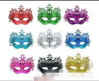 Wholesale venice hot - Party Masks Childrens Day Halloween Crown Mask Gold powder lace Glyptostrobus Venice Vizardmask Half Face Hot Sale 1 3mj