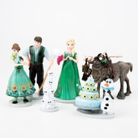 Wholesale Wholesale Children S Goods - Disney Frozen Birthday Surprise 2 6Anna Elsa Snow Po Doll Ornaments Car Hundred Towers Cake Children 'S Toys Birthday Gift 6Cm