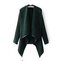 trimmer kleidung großhandel-2019 Herbst Winter Kleidung für Frauen Neue europäische und amerikanische Wollmischungen Mäntel Damen Trim Persönlichkeit Asymmetrische Regeln Kurze Jacke Mäntel