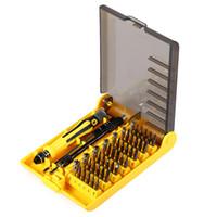 juego de destornilladores precisos al por mayor-Profesional 45 en 1 JK 6089 B Kit de herramientas de destornillador de hardware Juego de destornilladores precisos HQ herramienta de reparación de teléfonos móviles y Notebook + B