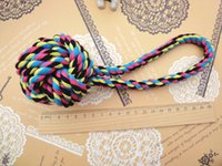 Wholesale dog ball rope toys - 2018 Interactive Dog Toys Lantern Cotton Ball Odontoprisis Clean Teeth Pets Chews Lentn 23cm Cotton Rope Dog Toys