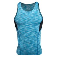 Wholesale Sexy Men Tight Clothing - Wholesale- Men Camouflage Quick Dry Solid Cool Tee Shirt Wicking Tank Tops Vest Summer Fitness T-shirt Tights Clothing