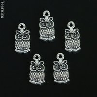 owl nacklace - Jewelry Findings Vintage Silver Alloy Owl Charms Pendants Fit Nacklace Bracelet MM