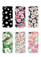 Wholesale water case 5s online - Flower Cases Soft TPU Clear For Iphone S SE S Plus Plus Galaxy S6 S7 Edge