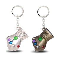 Wholesale Wholesale Bronze Jewels - Jewels Movie Game Gifts Jewelry Thanos Infinity Gauntlet Keychain Metal Key Rings Chaveiro Key Chain Jewelry