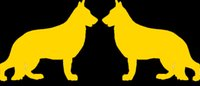 Wholesale German Wall - Handicrafts Vinyl Decals Car Stickers Window Stickers Scratches Stickers Wall Die Cut Bumper Accessories Animal Jdm 2 German Shepherd Dog