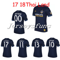 b864007ad9a Soccer Men Short top Thai quality LA Galaxy 17 18 Away blue soccer Jersey  2017 2018