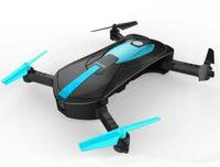 rc helicóptero rotor cámara al por mayor-Nuevo 2.4G portátil JY018 plegable Mini Selfie Drone Pocket Plegable Quadcopter Altitude Hold sin cabeza WIFI FPV 0.3MP cámara RC Juguetes del helicóptero