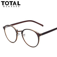 Wholesale Round Geek Glasses - Wholesale-Hot Sale Round Eyewear Vintage Style Women Eyeglasses Brand Designer Optical Glasses Men Women Fashion Girls Geek Oculos
