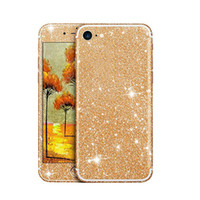 Wholesale Glitter Stickers For Phones - Glitter Phone Sticker For Iphone 7 6 6s Plus Sumsang S7 Huawei Bling Shining Soft TPU Colorful Front and Back Sticker With Retail Package