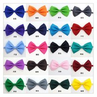 Wholesale Rabbit Grooming - Dog Tie 2017 Adjustable Pet Grooming Accessories Rabbit Cat Dog Bow Tie Solid Bowtie Pet Dog Puppy Lovely Decoration DHL free