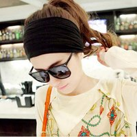 Wholesale Sports Cloth Headbands Wholesale - European style headdress cloth sequins broad brimmed black hair band sport headband factory direct wholesale EMS shipping