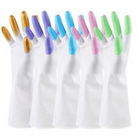 Wholesale Garden Appliances - Dishwashing gloves waterproof rubber latex thin kitchen durable brush laundry rubber plastic household cleaning Fancy style