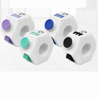 Wholesale Package Relief - 4 Colors Magic Fidget Cube Finger Ring ABS Decompression Adults Stress Relief Kids Metal Spinner With Package Toy